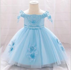 2020 New Baby Luna Llena Lavado Bebé Vestido Puffy Princess Dress Mesh Girl Niña Fotografía Tamaño de fábrica 70-90cm