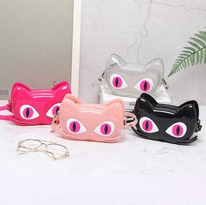 The latest and most popular brand recommended girl cat jelly bag cute children's cartoon shoulder messenger bag mobile phone change mini bag
