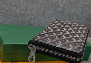 Hot Best-venda de Goya Moda Feminina Paris Estilo clássico embreagem Men Único zipper Carteira GY Genuine couro longo carteira com caixa de saco de pó