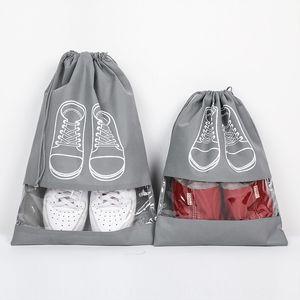 Straight hair storage bundle mouth storage waterproof portable function shoe bag large capacity shoe bag