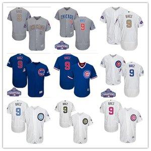 ücretsiz gemi Spor Beyzbol Formalar Chicago Chicago Cubs 9 Javier Baez yavru erkekler kadınlar gençlik beyaz yüksek kaliteli formayı kırmızı