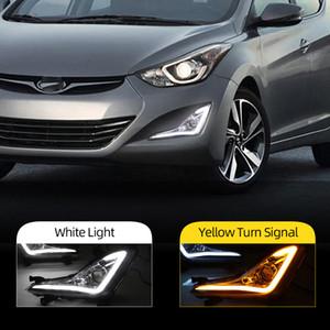 Hyundai Elantra Avante 2014 2015 LED DRL Gündüz ışık sis lambası çerçevesi Sis lambası sürüş ışık gün ışığı çalıştırmak için 2adet