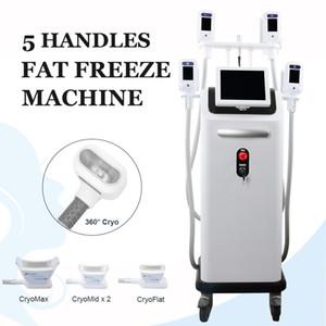 High End Cryolipolysis machine 4 Fat gel Poignées de travail à chaud massage Cryo taille de réduction poignées d'amour Minceur lipolyse