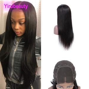 Peruana pelo sin procesar humano 8-26inch recto 4X4 del encierro del cordón peluca de pelo de la Virgen 4X4 Cierre pelucas con el pelo del bebé Derecho