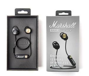 2020 cuffie Nuovo Marshall Minor II Bluetooth Wireless auricolari DJ Perfect Sound Cuffie Pausa magnetica funzione auricolare di sport