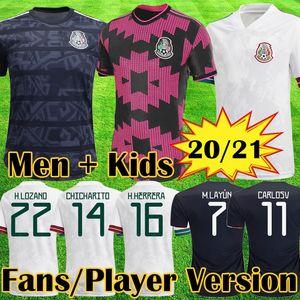 Mexico Maglia da calcio top versione giocatore Messico 2020 Camisetas Maglie da calcio Coppa d'oro LOZANO CHICHARITO HERRERA GUARDADO Uomo Maglia per bambini uniforme