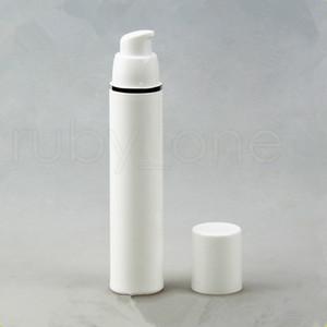 15ml 30ml 50ml PP Airless Garrafas de vácuo Bomba Lotion Bottle Com Silver Line Embalagem Cosméticos RRA2246