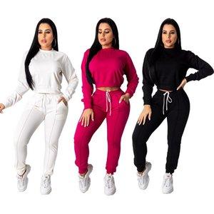 Echoine Autunno Inverno Donne tuta insieme delle 2 parti Bassiera pantaloni Set Sportwear adatta Corrispondenza allenamento sudore donne che pareggiano