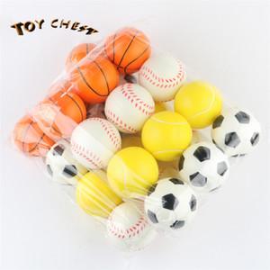 PECHO DE JUGUETE 6.3cmPU Presión de esponja Niños Bouncing Ball Juguetes Fútbol Baloncesto Tenis Béisbol Cuatro estilos Mixto Envío gratis