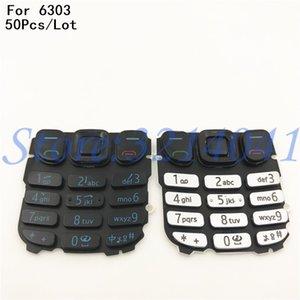 50Pcs / Lot نوعية جيدة لوحة المفاتيح الإنجليزية أزرار لوحة المفاتيح لنوكيا 6303 6303c أسود / أبيض