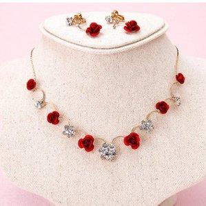 más color cistal de diamantes de novia de la boda conjunto de pendientes de dama (130) kjjkwonderful diamante cristal boda nupcial joyería collar earin