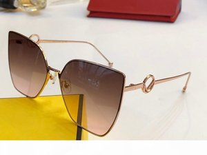 Новые роскошные дизайнерские женские модные солнцезащитные очки 0323 cat eye солнцезащитные очки простой щедрый бестселлер стиль высокое качество uv400 защитные очки