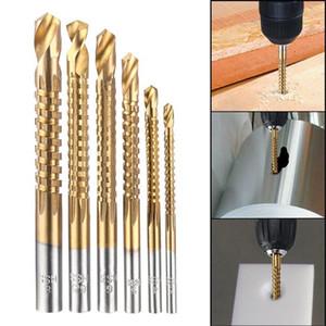Alta calidad 6Pcs Avellanadora Broca Power Tools velocidad de salida de metal recubierto de titanio HSS Fresa espiral bits puestos de sierra de metal de perforación