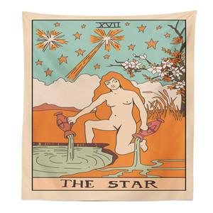 tarot tapices europeos pared de la astrología decoración colgante estrella paño sol luna Tenture mural moderna decoración del dormitorio sala