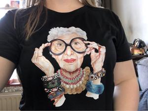 Nuevos 2019 Summer Tumblr vieja de la manera mujeres de la impresión mujeres de la camiseta del O-cuello de manga corta tops para las mujeres camiseta de Kawaii