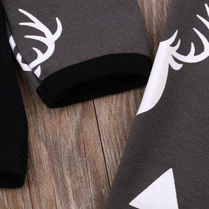 Newborn Baby Girl Boy Clothes Deer Tops T-shirt+Pants Leggings 3pcs Outfits Set Drop shipping baby set Nice August 8