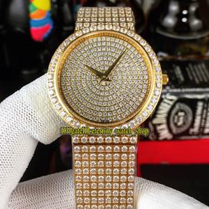 디럭스 보석 시계 시리즈 G0A38021 G0A38020 Gypsophila 다이아몬드 스위스 석영 운동 남성 시계 골드 다이아몬드 레이디 디자이너 시계 다이얼