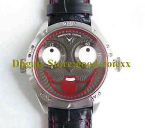 Reloj para hombre de 42 mm TW fábrica V3S Versión Konstantin Chaykin Joker Interior Tiempo de Rusia Fase lunar visualización automática del cuero relojes mecánicos