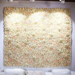 40X60cm Artificial Silk Rose Hydrangea Flower Wall Wedding Decoration Backdrop Panels Valentine's Day Party Decor Fake Flowers