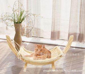 Hanging Cat Bed madeira maciça Cat Pet Dormir Litter Cat Mats Hammock Pet cama maca madeira maciça e Dog Bed Pet ninho Pad Hanging