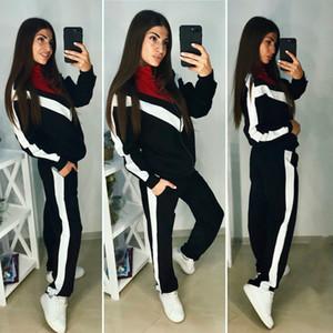 Çok sıcak Toptan Marka Tasarımcı Kadın Ceket 2 Parça Set Kıyafetler Coat Tayt Eşofman Gömlek Pantolon Koşu Suit Spor Eşofman