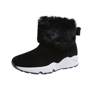 SWYIVY PU Snow Booties Wedge Shoes Woman Winter Boots 2019 Warm Casual Slip On Ladies Shoe Ankle Boots For Women Shoes Platform