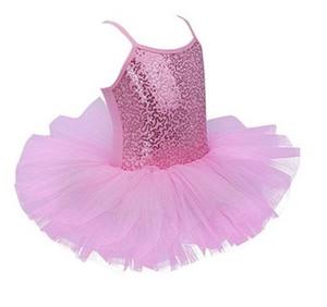 2020 Sequin Ballet Tutu Dress Girls Ballerina Fairy Party Function Function Teams Leotard Kids Dance Wear