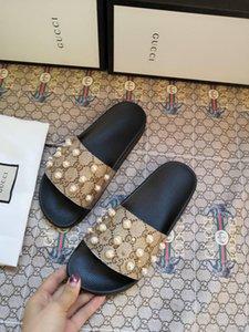 Тапочки сандалии дизайнера горками лучшего качества дизайнер обуви жемчужина дизайн шлепанцы мокасины от