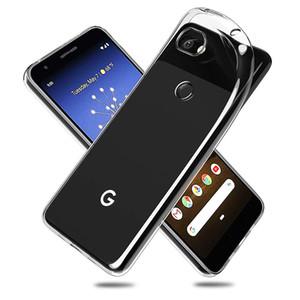 Macio TPU Phone Case Silicone protetora claro para Google Pixel 2 3 3A 4 XL caso para Google Pixel XL Pixel 2 XL 3 4