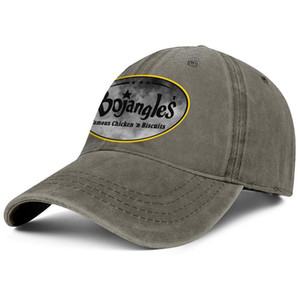 Bojangles' Famous Chicken Vintage old Unisex denim baseball cap fitted fashion cute uniquel hats French fries Plaid printing American