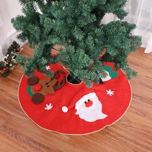 Ev Kat Mat Dokuma Yılbaşı Noel ağacı Etekler DBC VT1094 için 39inch Karikatür Noel ağacı Etek Yuvarlak Halı Noel Dekorasyon