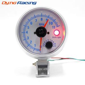 Araba takometre 3.75 inç 0-11000 rpm ölçer takometre çift pointer araba ölçer