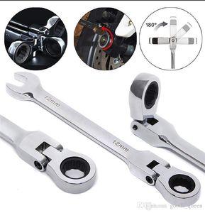 6-19mm Aktivitäten Ratchet Gears Wrench Set flexible Maulschlüssel-Reparatur-Werkzeuge, um Bike Drehmomentschlüssel Spanner 006