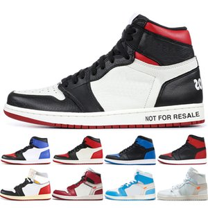 Yeni OG 1 üst 3 Erkek Basketbol Ayakkabı Chicago Yasaklı Siyah Burun Kraliyet Mavi hürmet etmek Ev UNC 1s erkek spor ayakkabısı Kadın eğitmenler Bred