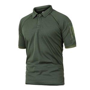 Ejército de verano combate camuflaje camiseta hombre táctico militar Coolmax de secado rápido camisas de manga corta soldado transpirable uniforme C19041303