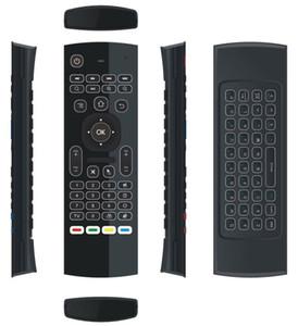 10 개 MX3 X8 T2 백라이트 마이크 미니 2.4 천 헤르쯔 무선 자이로 스코프 키보드 에어 마우스 원격 G 센서 안드로이드 TV 상자