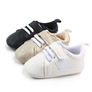 Sapatos de bebê recém-nascidos meninos meninas primeiros caminhantes crianças toddlers pu tênis 0-18 meses presente