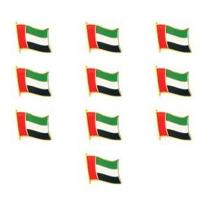 100PCS Bandiera degli Emirati Arabi Uniti Bandiera che sventola gli Emirati Arabi Uniti Flag Pins Serie di spille patriottiche