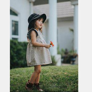 Kids Baby Girls Sleeveless Dress Princess Striped Dresses Summer