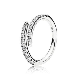 Claro CZ Shooting Star Diamond Ring Set caja original para la boda Pandora plata esterlina 925 muchachas de las mujeres meteoro anillos abiertos