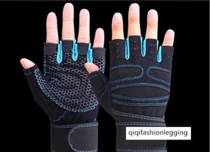 Sports Outdoor Riding Half Finger Fitness Mountaineering Non-slip Gloves Keep Warm Male Lady Palm Protection Protective Gear 1061
