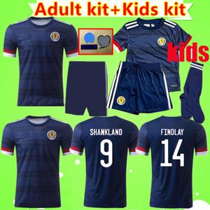 ADULT + KIDS KIT 2020 2021 Schottland Fußball-Trikots Herren Anzüge 20 21 Heim blau McGregor McGinn Armstrong Robertson Jungen Sets Fußballhemden