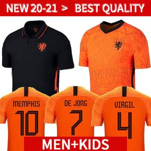2020 2021 هولندا لكرة القدم جيرسي هولندا لكرة القدم البلوزات مجموعات قميص 20 21 camisa دي futebol مايوه دي الاطفال القدم الرجعية بالقميص لكرة القدم