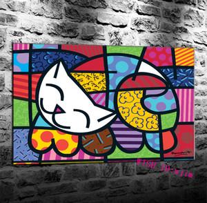 Romero Britto Puzzle 1000 piezas, impresión en lienzo HD Nueva decoración del hogar Arte Pintura / Sin marco / Enmarcado