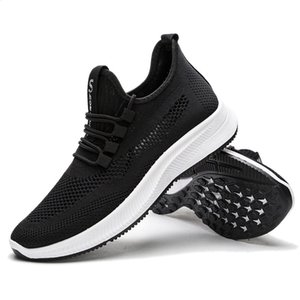 vertvie Men Knitting Mesh Breathable Flat Heel Shoes Sport Running Casual Sneakers Lace Up Walking Shoe Zapatillas Hombre