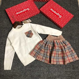 Girls sets 2pcs high quality WSJ002 tops +dress #110251 whatsyan01
