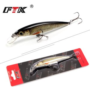 Lures FTK 1pc Minnow Lure Laser Hard Artificial Bait 12g 100mm Fishing Wobblers Crankbait Minnows 3D Eyes Fishing Tackle