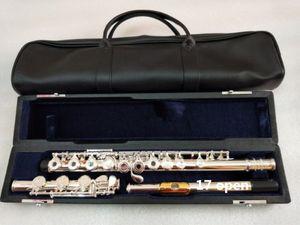Qualitäts-echtes Flöte 471 17 Loch E Schlüssel geöffnet C Primär Flöte Neusilber instrumentos Musik professionelle flauta