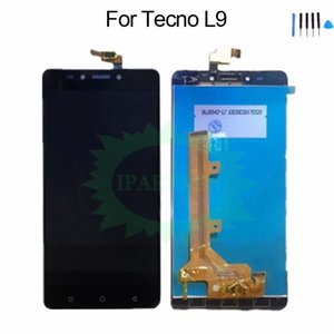 Для Tecno L9 ЖК-дисплей Стеклянная панель Digitizer Сенсорный датчик Ассамблеи Заменить на Tecno L9 Мобильный телефон LCDS 100% Испытано NEW 100%