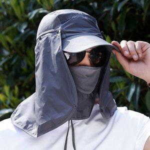 Sports de plein air Randonnée Visor Chapeau Protection UV Face cou couverture pêche Sun Protect Cap meilleure qualité
